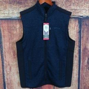 NWT Men's Orvis Sweater Fleece Vest Blue/Black